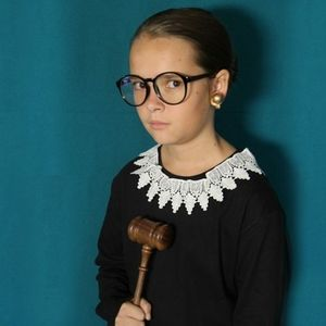 Ruth Bader Ginsburg Halloween Costume Lace Collar